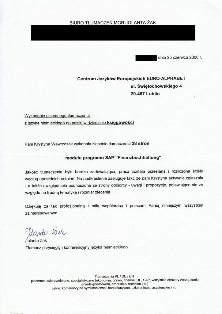 Tłumaczenie modułu programu księgowego 1