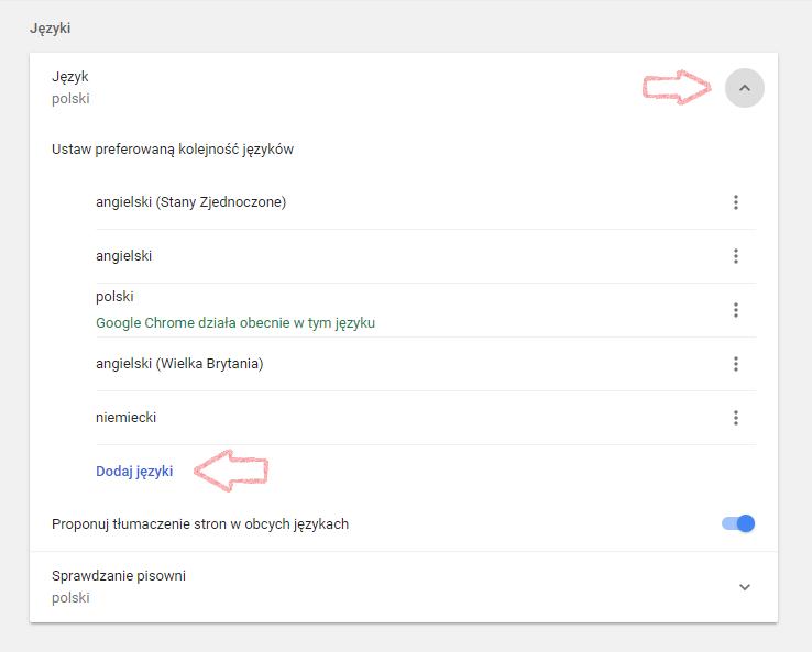 Jak włączyć sprawdzanie pisowni podczas pracy w Chrome 2